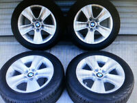 BMW winter MAGS + Runflat Tires - almost new /Pneus et Mags