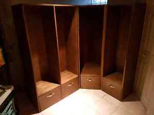 Mudroom cubbies with drawers