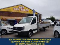 2015 15 VOLKSWAGEN CRAFTER DROPSIDER PICKUP TRUCK 16 FOOT BIGGER 163 BHP + AIR C