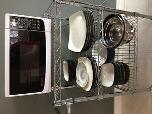 Microwave and trolly
