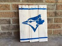 Hand painted sports signs.
