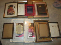 15 PICTURE FRAMES, some new