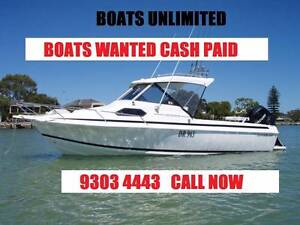 ***Boats Wanted - CASH SPLASH $150K TO SPEND ON STOCK CALL TODAY Wangara Wanneroo Area Preview