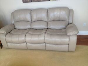 Leather (real)  Reclining Sofa