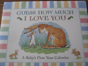 NEW Guess How much I love you baby calendar and sippy cup St. John's Newfoundland image 2