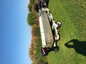 Mercury 15 hp Tiller with 14' aluminum and trailer