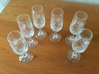 6 Fluted Champagne Glasses