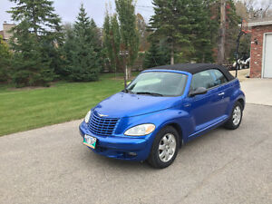 2005 Chrysler PT Cruiser Blue Convertible