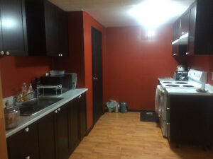 1 Bedroom Basement in East End for Rent Available April 1