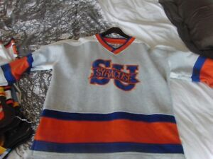 Vintage Syracuse NCAA Orangemen Hockey Lacrosse  Sweater Large