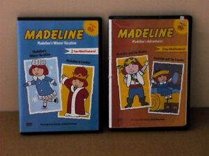 2 Madeline DVD movies : M Adventures : Winter Vacation Cambridge Kitchener Area image 1