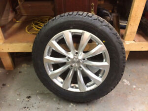 """brand new 17"""" firestone winterforce studded tires and rims"""