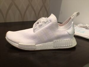 Nmd R1 Pk White with Gum bottom