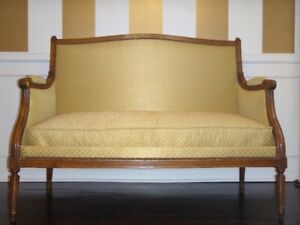 French Antique Mid Century Settee (From France)