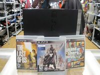 CONSOLE PS3 PLAYSTATION 3 160gig +3 JEUX SEULEMENT 139.95$