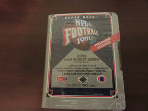 Upper Deck NFL cards- sealed, mint, over 25 years old!