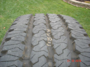 4 - Firestone Transforce tires LT285/60R/20 A/T (M+S) E rated