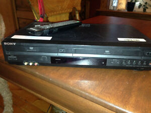 DVD and VCR player