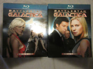 BATTLESTAR GALACTICA SEASONS 1&4 BLURAY