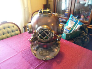 FULL SIZE NEW MARK V NAUTICAL BRASS AND COPPER DIVING HELMET