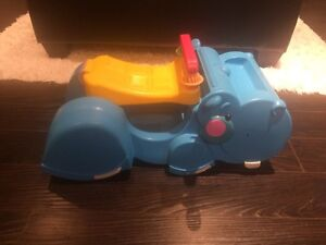 Fisher Price hippo ride on + push walker