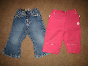 Girls 12 Month Pants and Shirts