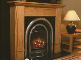 Insert for cast iron fireplace - electric fire