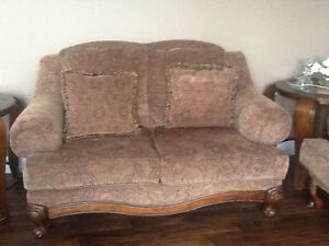 2 loveseats and matching chair for sale