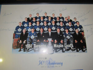 1967 TORONTO MAPLE LEAFS  TEAM SIGNED FROM 30TH ANNIVERSARY