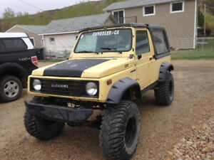 1986 Suzuki samurai LWB, 1.6L super charged, Manual, 4x4, Lifted