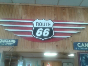 Route 66 Wood Sign