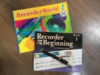 2 learn to play recorder books