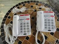 (2) Hard Of Hearing General Electric Phones Of My Mom's!