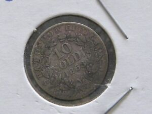ITALY 1863 20 CENTESIMI SILVER COIN  $25.00