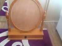 Large solid pine mirror
