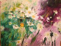 Peinture, toile, tableau, cadre