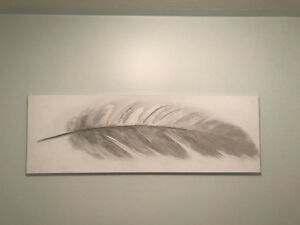 Hanging Wall Picture of Feather