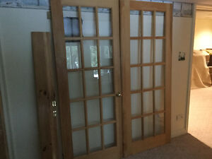 Solid wood clear pine doors