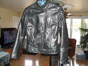 Manteau de moto en cuir Taurus pour femme