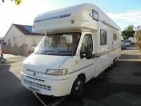 AUTOTRAIL CHIEFTAIN, 6BERTH, TAG AXEL, FIXED REAR BED, 2.8 TURBO DIESEL