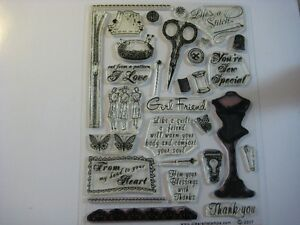 "Scrapbooking, Étampe ""Vintage"" d'articles de couture"