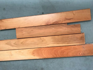 Box of Mirage 3/4 inch solid satin cherry hardwood left over