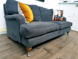 Sofa com Bluebell 2 and half seater sofa in charcoal cotton RRP £1534
