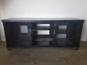 Black mint TV stand