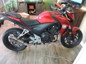 honda cb500f with 0nly 3000km on it
