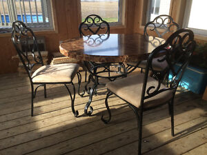 Set table ronde 4 chaise