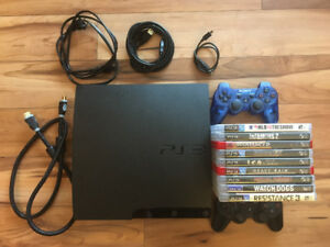 PS3 - 2 controllers, 9 games, all the accessories