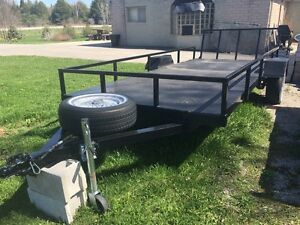 HEAVY DUTY ATV / UTILITY TRAILER 6ft x 15ft w/ Folding Rear Ramp