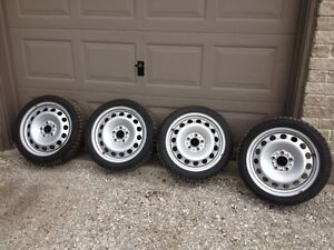 (4) EVERGREEN WINTER TIRES (SNOW AND ICE) ON RIMS FOR SALE