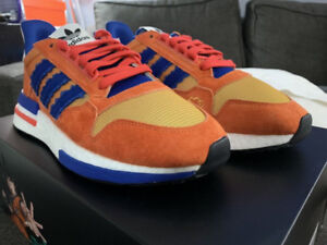 Adidas x Dragonball Z ZX 500 Restomod Son Goku shoes size 9+9.5